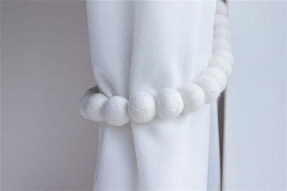 White Curtain Tie Backs Curtain Holdbacks Nursery Curtain Tie