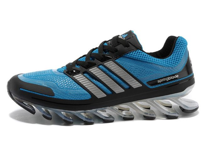 new concept b4613 69721 hot blue sapphire adidas new shoes are springblade to propel runners  forward metallic silver black adidas