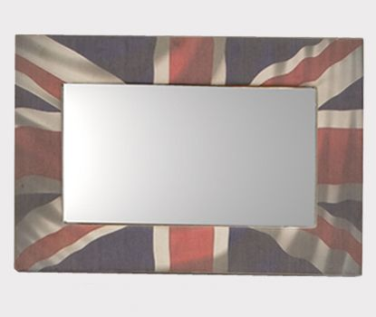 Union Jack Wall Mirror. Part of our Iconic image collection this Union Jack wall mirror will give any room a patriotic feel. The mirror frame is printed on 100% cotton canvass. A unique gift present for an iconic image collector.