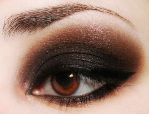 6. Deep Plum Eyeliner... Purple is one of the many colors that goes beautifully with brown eyes. Try this out ladies, switch out your brown or black eyeliner for a deep plum eyeliner. Instantly, you'll see a huge difference in how your brown eyes pop! This makeup trick for brown eyes has been around forever, but so many people forget about it!