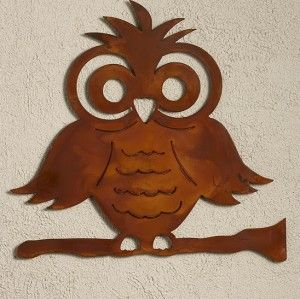 Fun Owl metal sculpture by Elizabeth Keith Designs