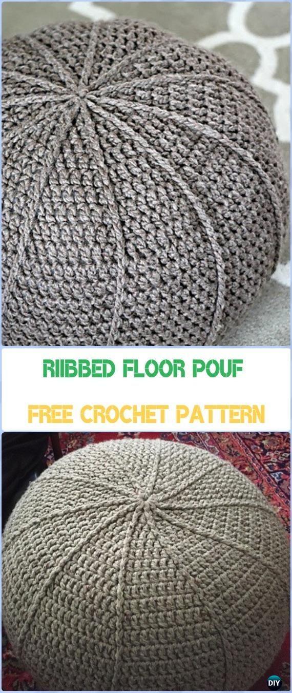 Crochet Poufs Ottoman Free Patterns Diy Tutorials Crochet