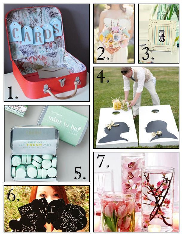 DIY: Spring Wedding Ideas - WV WEDDINGS (Planner's Palette - http://www.mywvwedding.com/Planners-Palette/May-2012/Spring-Into-I-Do-With-These-DIY-Tips/)