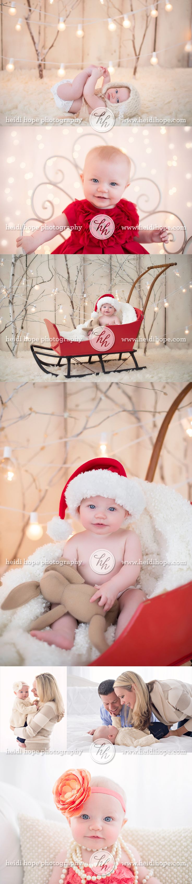 6 month old baby A's Christmas family portraits sneak preview!