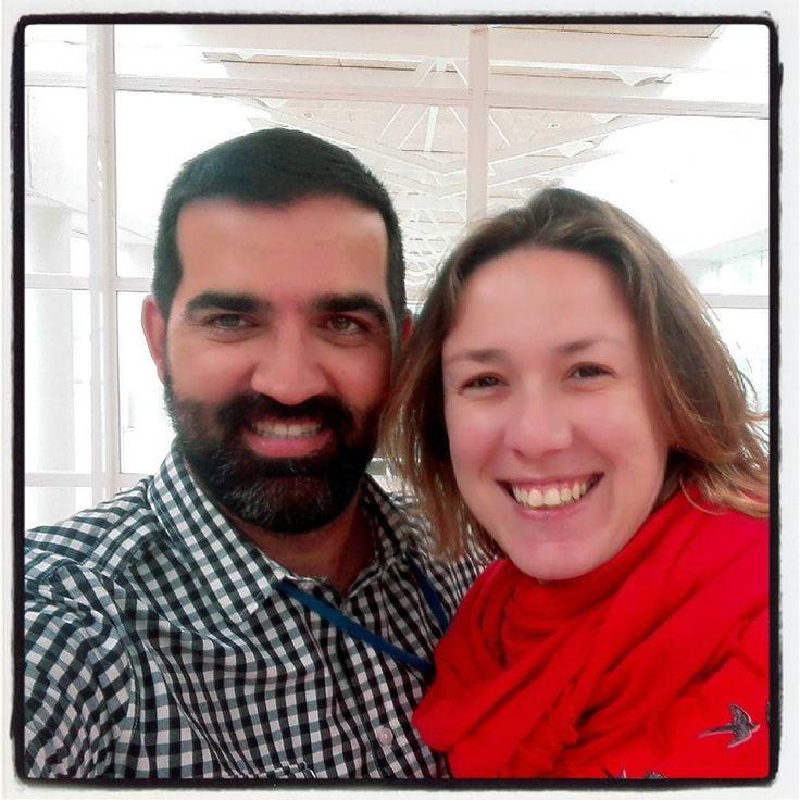 Con mi @moni_ventoso en #FHC. Visitas que te llegan al corazón!