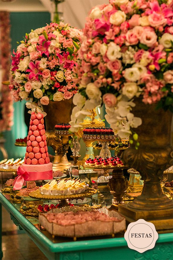 Festas | Aniversário Tiffany,    Rosa e Dourado  |  Les Divas