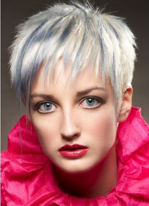 Blonde Pixie Cut with Tinge of Gray | Full Dose