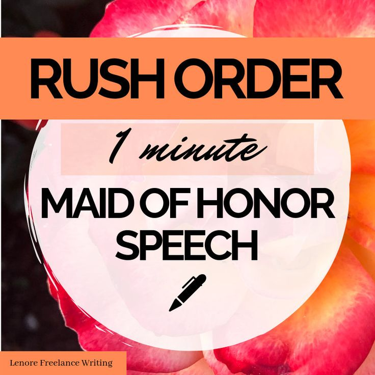 Custom written speeches