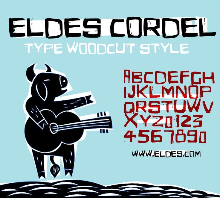 TIPOGRAFIA | Eldes Cordel - © Eldes.com #typography #woodcut #cordel #xilogravura