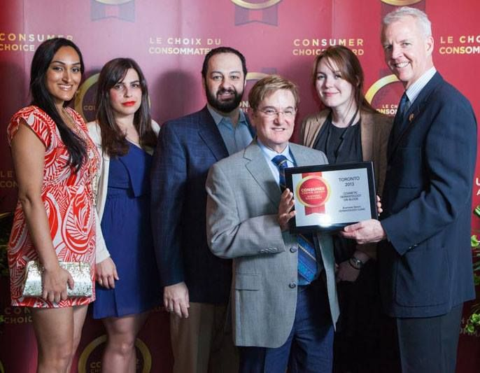 """#DermatologyonBloor awarded the """"Best Dermatology Clinic in the GTA"""" by #ConsumersChoice in 2013."""