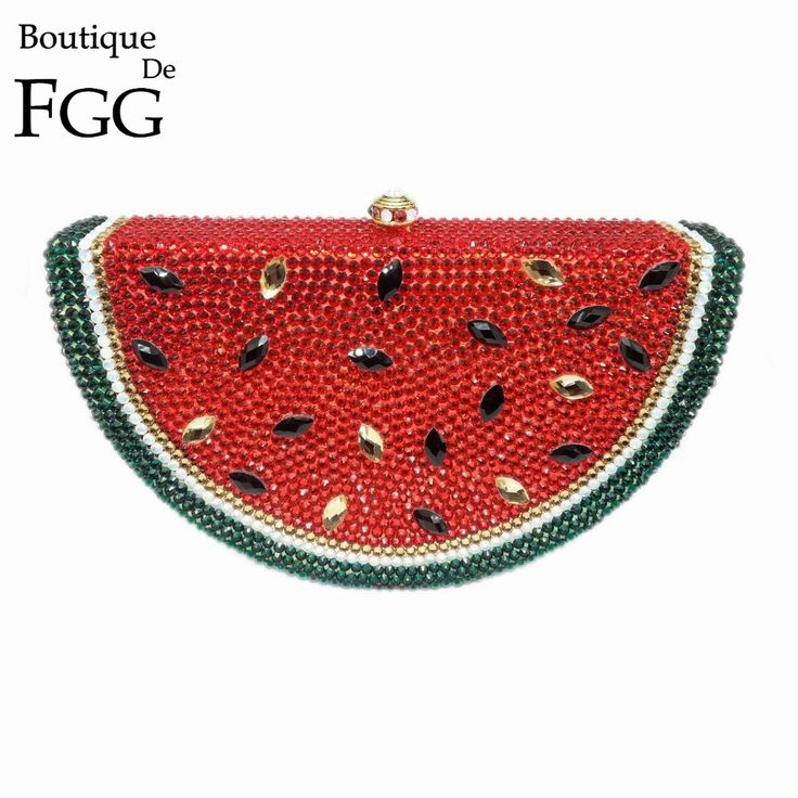 Aliexpress.com : Buy Gift Box Fruit Watermelon Bag Clutch Handbag Crystal Clutches Women Evening Bags Rhinestones Purses Diamond Bridal Wedding Purse from Reliable bag size suppliers on Boutique De FGG EveningBag Store