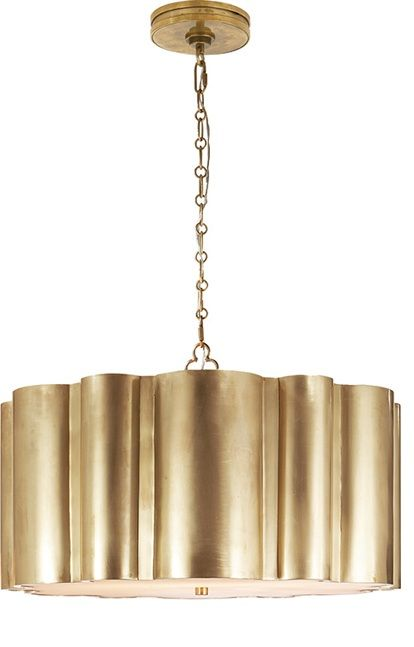 michael jordan shoe size Lighting Fluted Antique Brass Markos Hanging Shade Pendant so beautiful one of over    limited production interior design inspirations inc f   Pinteres