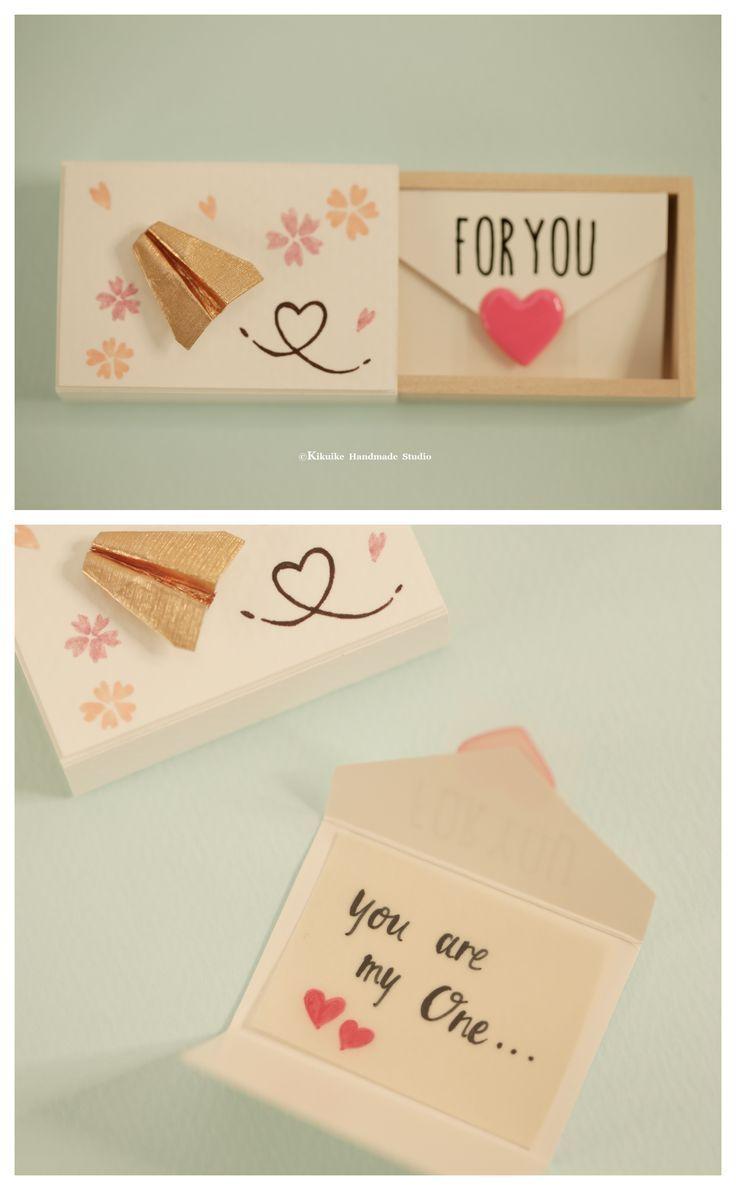 Miniatur-Matchbox-Karte, Valentinstag Geschenk, Box Cheer, Funny Love Card, Geschenk für …