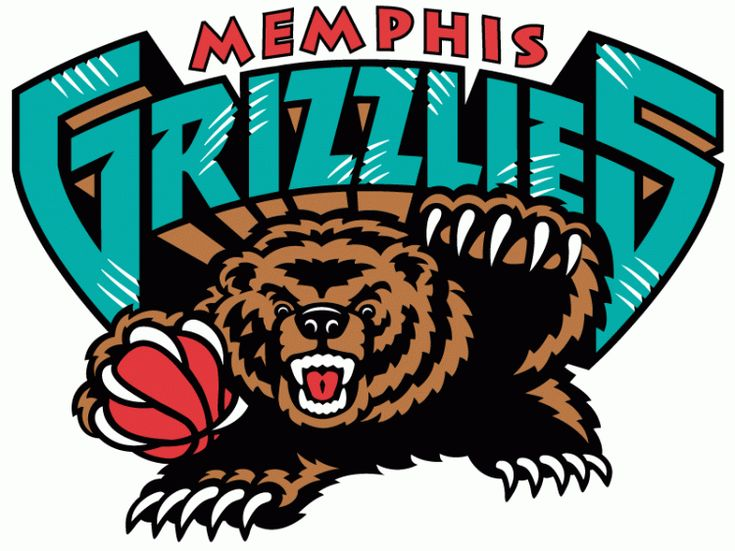 Memphis Grizzlies Primary Logo (2002) - A bear holding basketball with Memphis Grizzlies written above