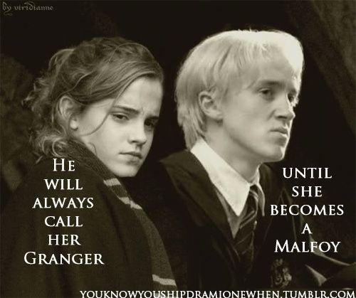 Best 25 draco and hermione ideas on pinterest dramione - Harry potter hermione granger real name ...