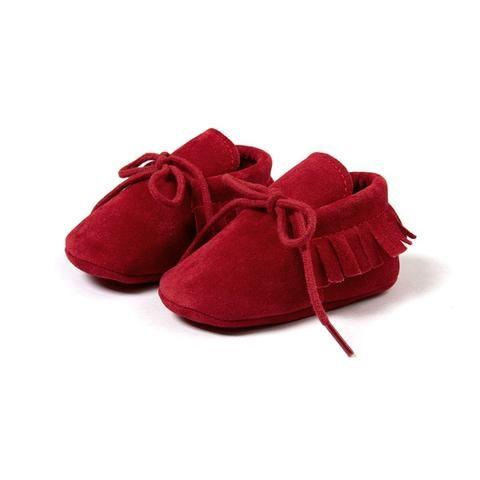 Baby Boys' And Girls' Moccasins Soft Sole Tassels Prewalker Anti-Slip Toddler Shoes