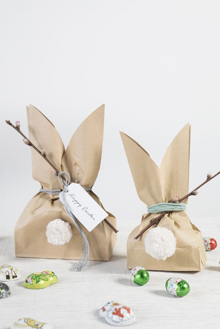 DIY easter bunny goody bags. A fun easter project by Søstrene Grene