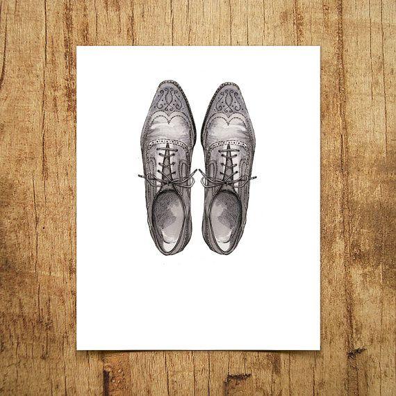 Dapper Gentleman's Shoes  Unframed Wall Art by DapperPrintStudio