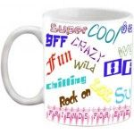 FRIENDSHIP - FRIENDS FOREVER QUOTES PRINTED WHITE COFFEE MUG