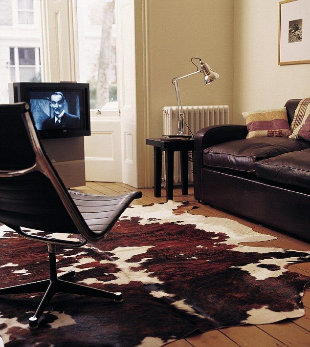 how to clean a cowhide rug