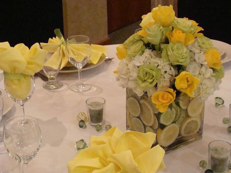 Yellow Passover Table Setting Lemon and flower Decorated Table Scape Pretty Decor For Summer & 11 best Passover Table Setting Ideas images on Pinterest | Dinner ...