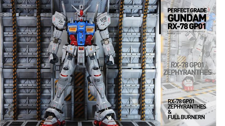 PG 1/60 RX-78/fb Gundam GP01 + Custom Mechanical Chain Base - Customized Build     Modeled by  가루8258