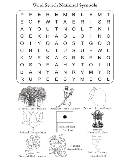 Word Search Puzzle National Symbols | Download Free Word Search Puzzle National Symbols for kids | Best Coloring Pages