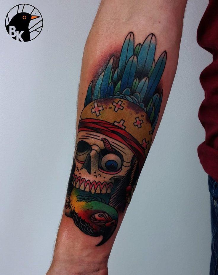 dead pirate by Bartek Kos Tattoo   https://www.instagram.com/bk_tats/