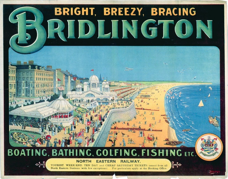 Bright, Breezy, Bracing Bridlington #vintage #travel #poster #UK: Vintage Posters, East Yorkshire, Railway Posters, Braces Bridlington, British Railway, Railings Posters, Vintage Travel, Travel Posters, Bridlington Railway