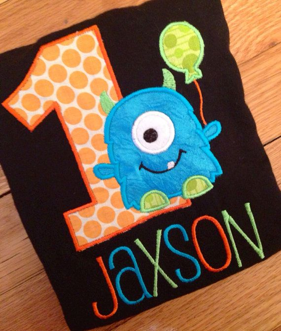 Hey, I found this really awesome Etsy listing at https://www.etsy.com/listing/175693487/little-monster-birthday-shirt