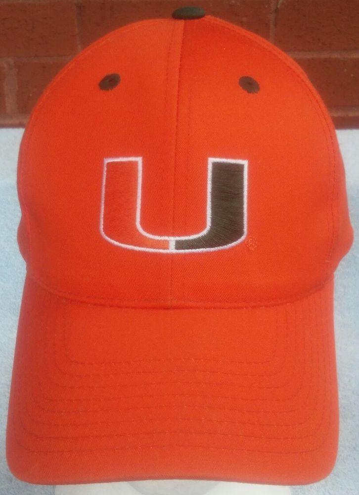 9472e1be3a268b Miami Hurricanes Hat Cap White Orange Green Vintage The U Logo Snapback   captivatingheadwear  Trucker