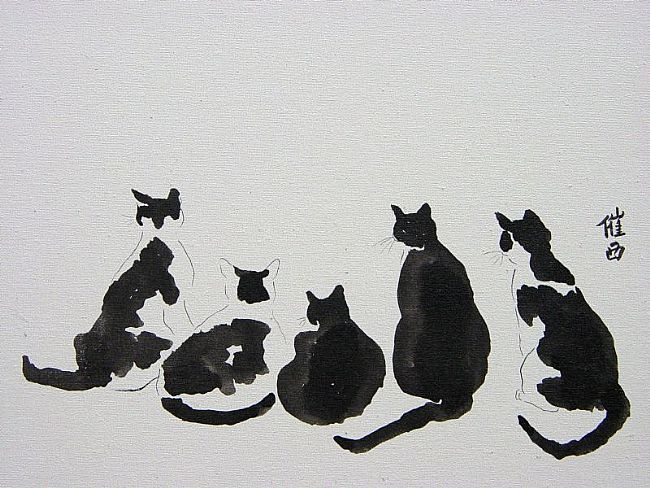 Google Image Result for http://www.ebsqart.com/Art/chinese-brush-paintings/chinese-ink-on-archival-watercolor-canvas-board/68614/650/650/Black-and-White-Cat-Watch.jpg