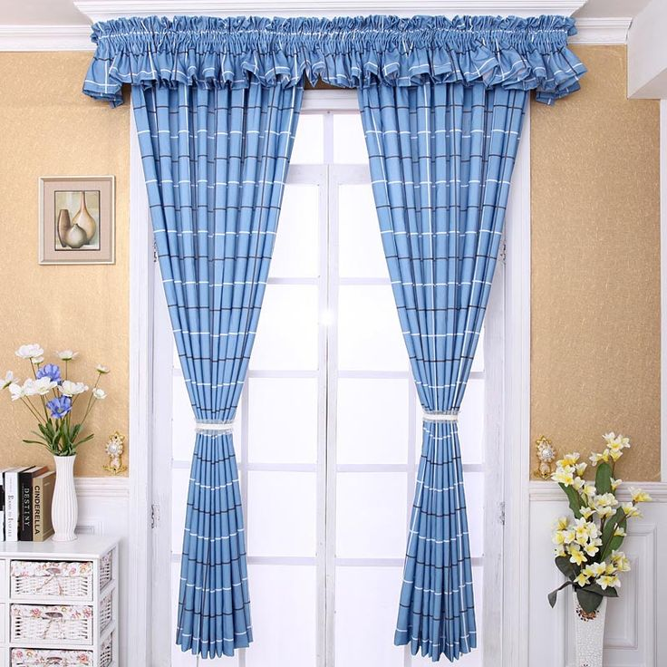 Country Plaid Curtain Valances