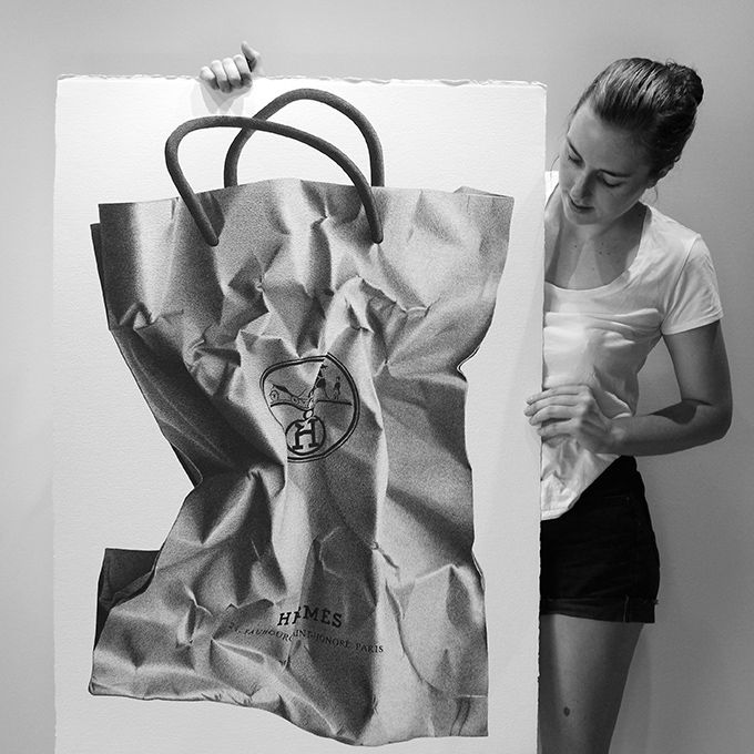 Australian artist CJ Hendry creates magnificent, photorealistic black-and-white images in large format using only paper and pen.