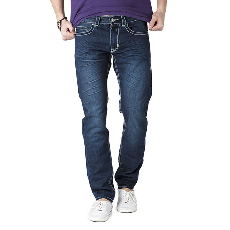 Cherish Simple Living High Thinking Jeans Men's Eagle Green Jeans with Contrast Waistband
