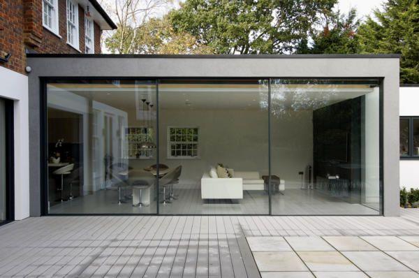 Modern Extension in London  The KELLER minimal windows® sliding doors were…