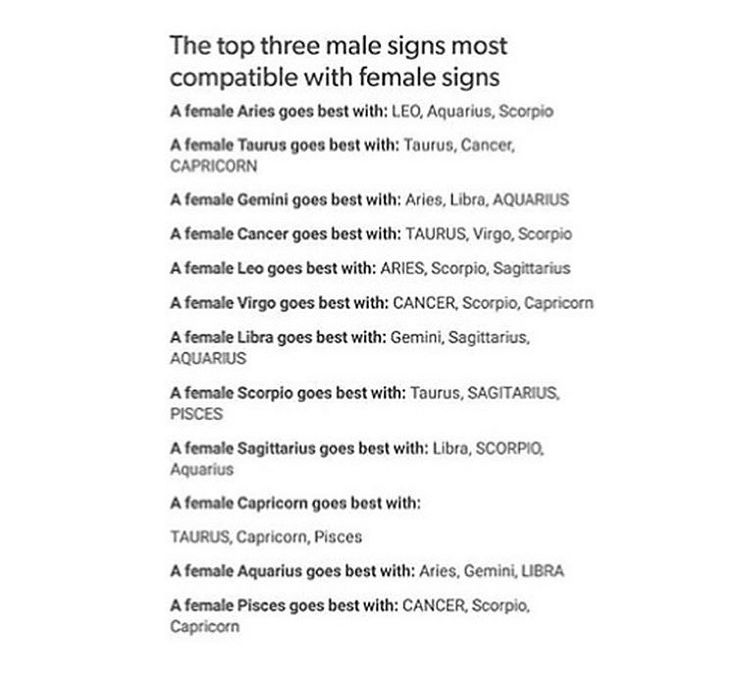 What star sign goes with libra