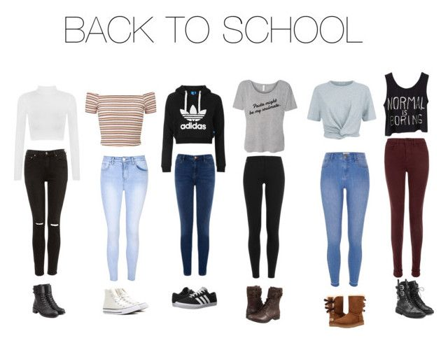 """""""Back to school outfit guide:)"""" by brooke3103 ❤ liked on Polyvore featuring WearAll, Glamorous, Miss Selfridge, Warehouse, Topshop, Polo Ralph Lauren, River Island, T By Alexander Wang, J Brand and adidas"""