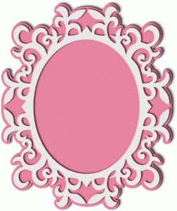 View Design: fancy flourish frame with mat
