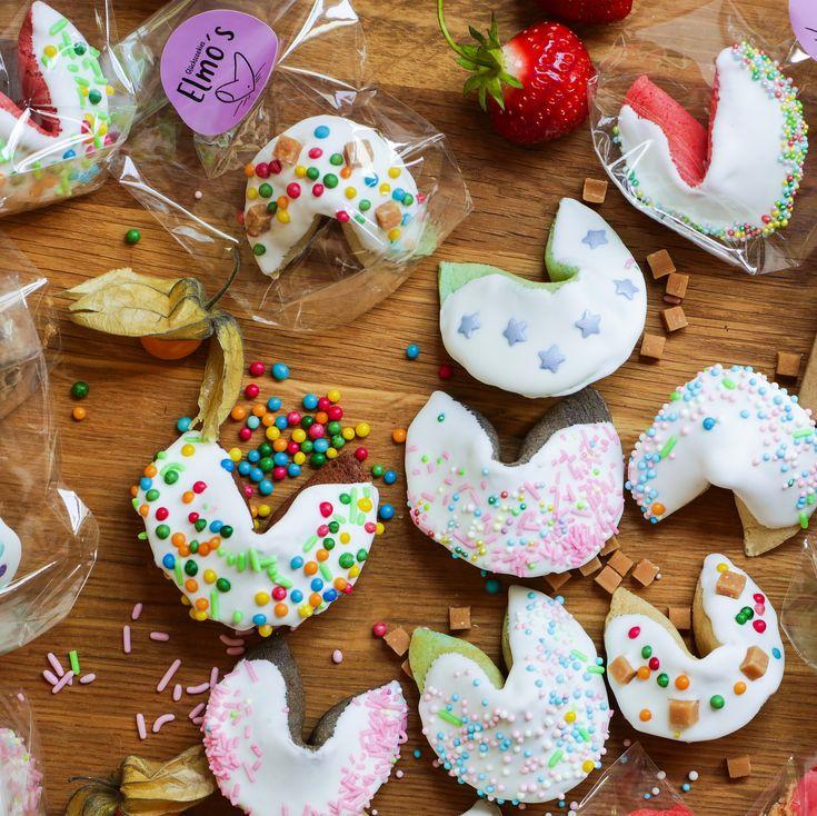 Elmo's Glückscookies | Elmo, Süße geschenke, Glückskekse