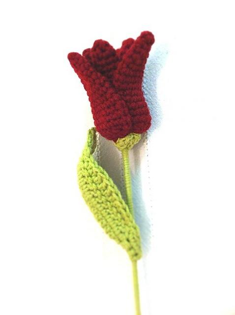 Crochet Tulip: free pattern