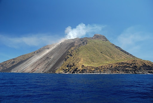 Stromboli Volcano, Italy. Uh, yeah i conquered this fiery lady