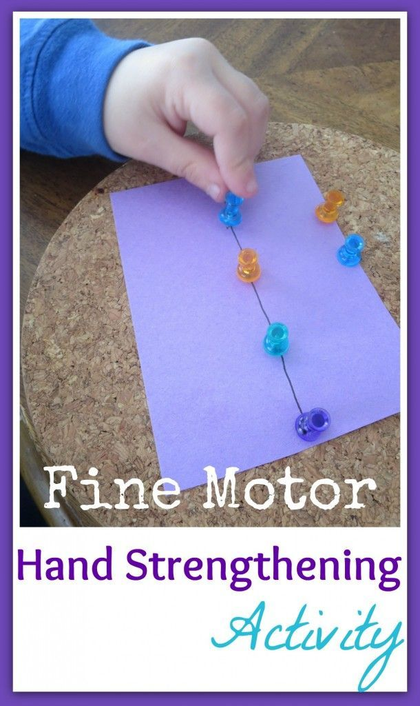 Simple activity that takes only a minute to set up and builds hand strength while refining fine motor skills! Great for preschoolers who struggle with issues like sensory processing disorder.
