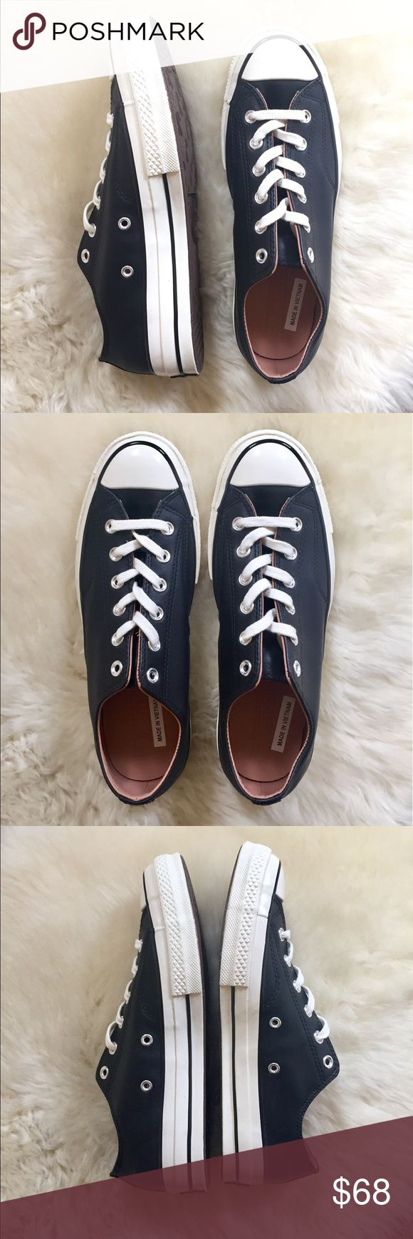 Converse Chuck Taylor Leather Low Top Sneaker New In Box - Black Chuck Taylor Leather '70 Oxford Converse low top sneaker. Unisex - Women's size 10 or Men's Size 8. Converse Shoes Sneakers