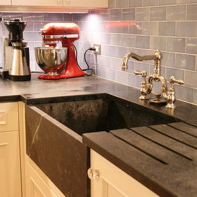 Soapstone Countertops With Drainboard.