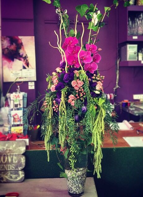 Centrepiece for wedding or event by Funky Bunches