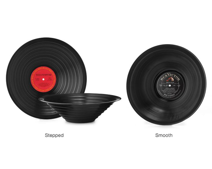 RECORD BOWLS   Recycled Vinyl, LP, Album   UncommonGoods  This would be perfect for the snacks!