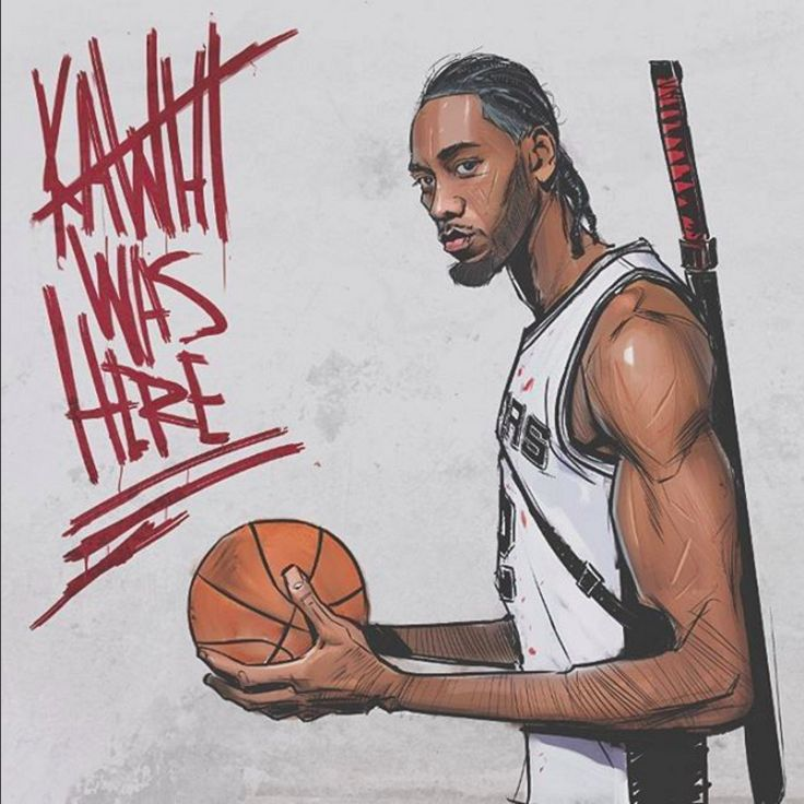 Kawhi Leonard Silent Assassin Illustration