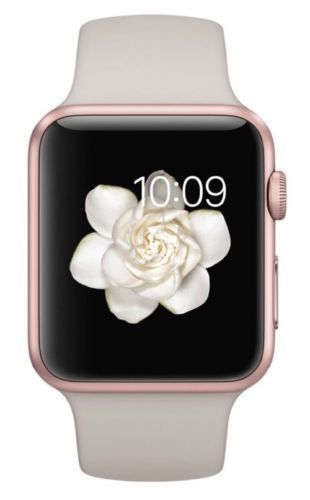 Apple Watch Sport 42mm Rose Gold Rose Gold Case Stone Sport Band (MLC62LL/A) #Apple