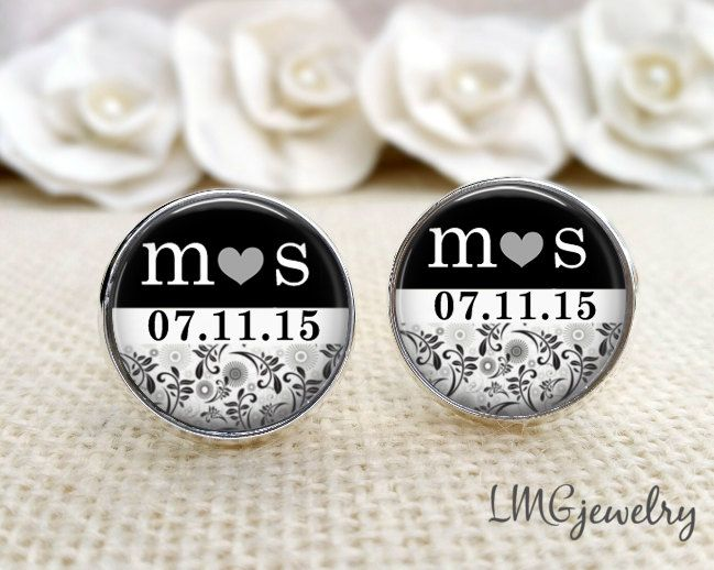 Custom Cufflinks, Groom Cufflinks, Wedding Cufflinks, Custom Groom Cufflinks, Gift for Groom, Initial Cufflinks, Personalized Cufflinks by LMGjewelry on Etsy